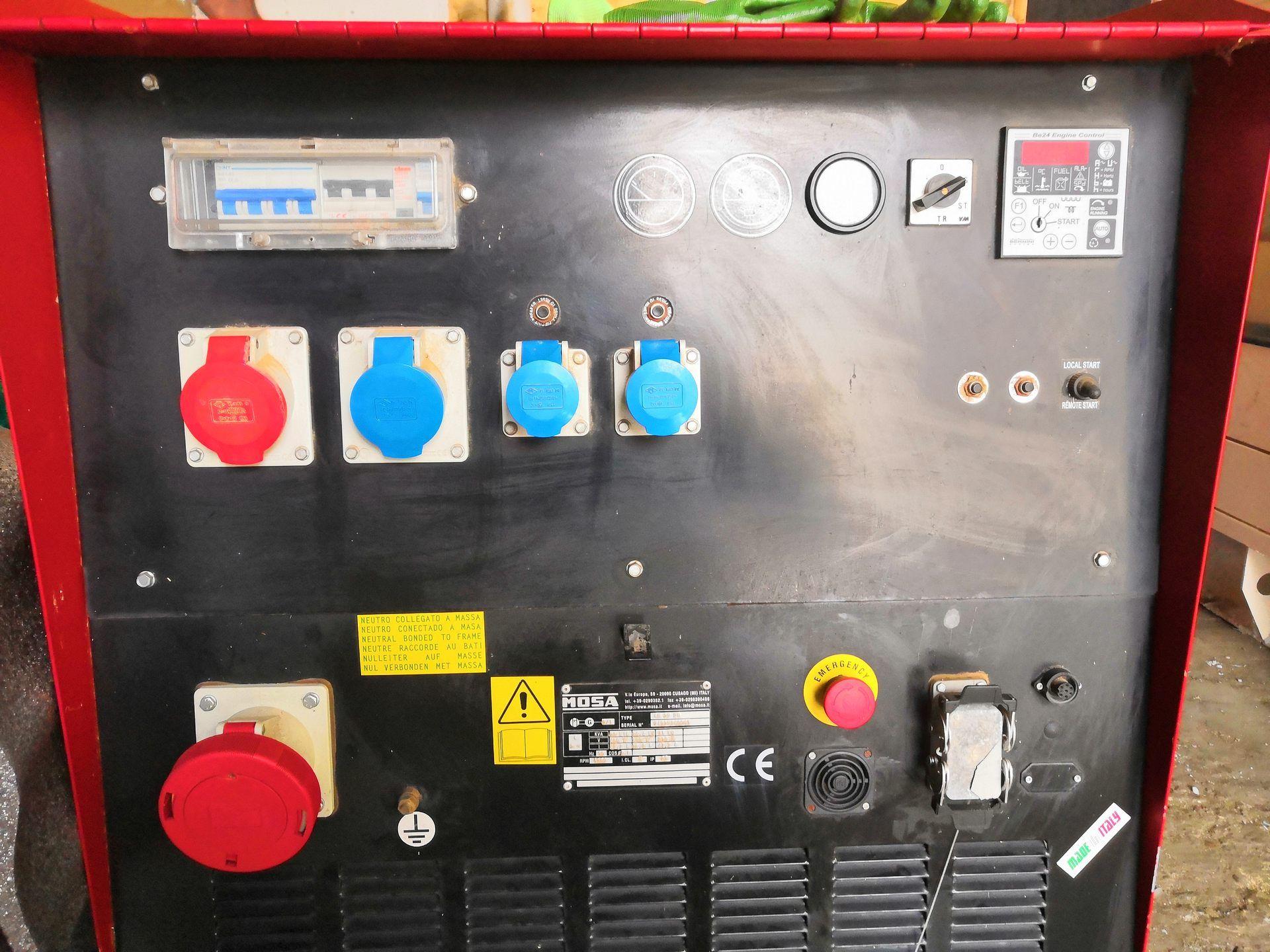 БУ Дизель-генератор MOSA GE 35 PS в кожухе 2