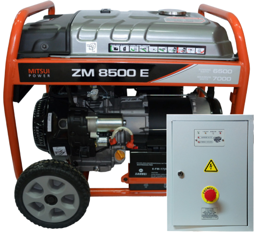 Внешний вид MITSUI ECO ZM 8500 E с автозапуском АВР