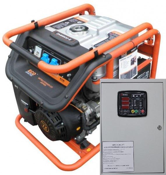 Бензогенератор MITSUI ECO ZM 10000 E-3 с автозапуском
