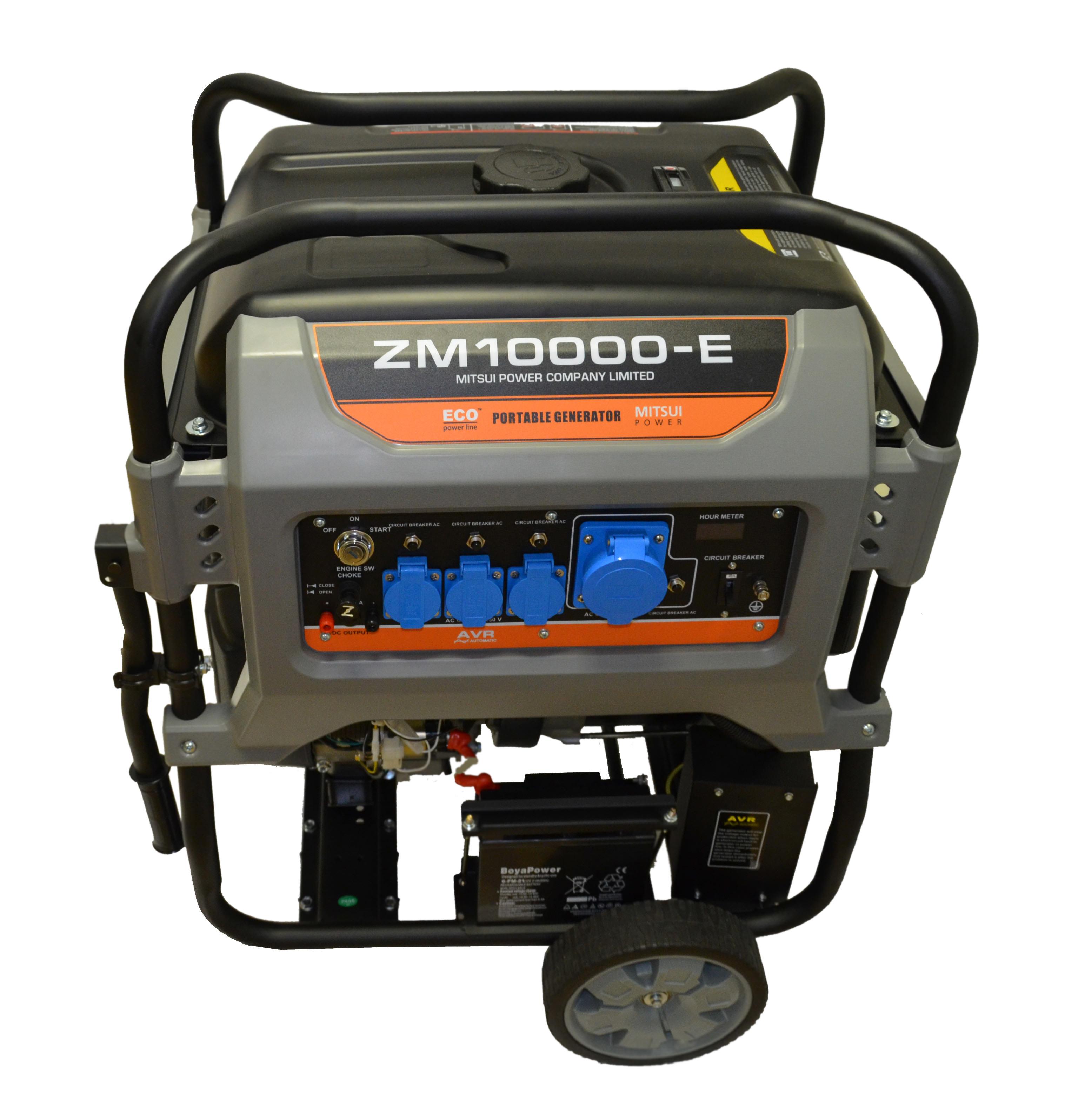 Бензогенератор MITSUI Power ECO ZM 10000 E