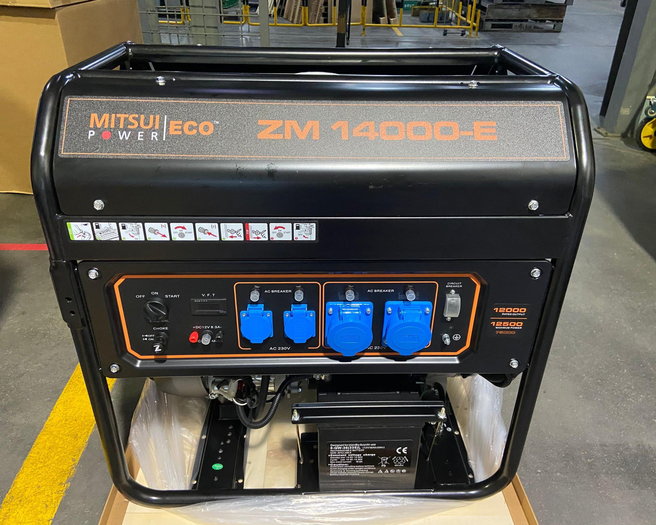 Бензогенератор MITSUI ECO ZM 14000 E