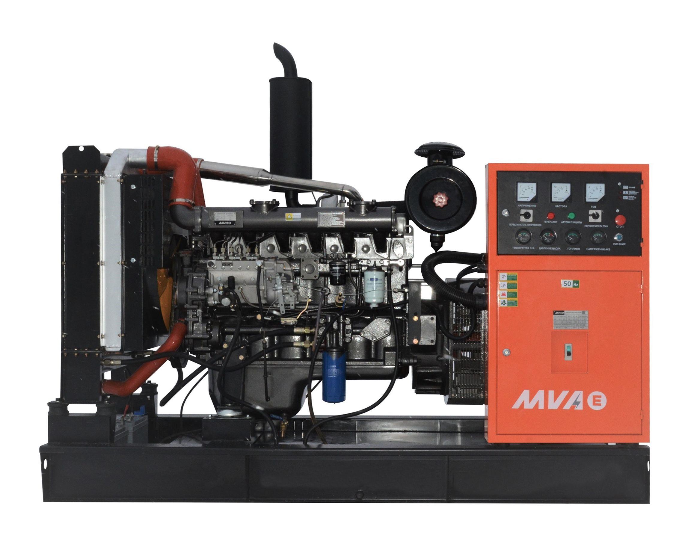 Внешний вид MVAE АД-100-400-АР на раме c АВР