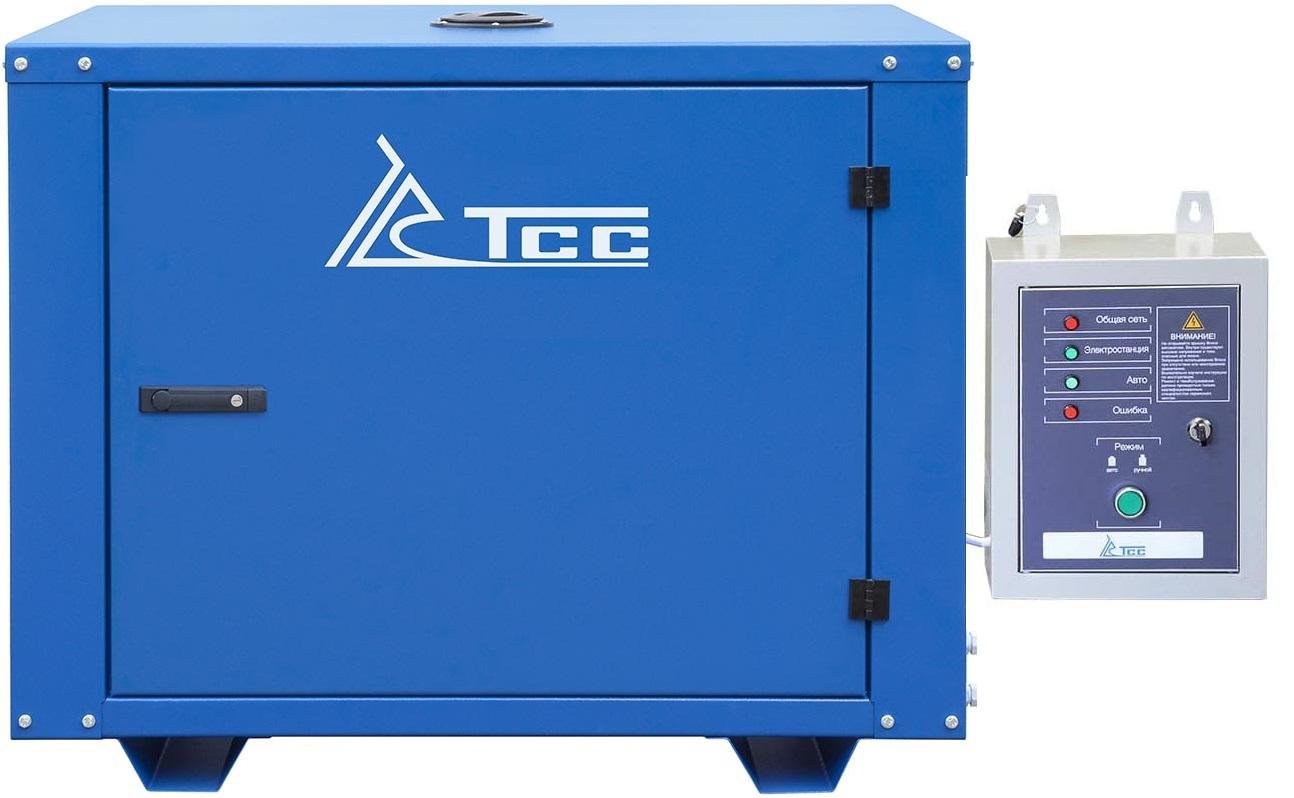 Бензогенератор TSS SGG 7000 EA в кожухе с автозапуском АВР