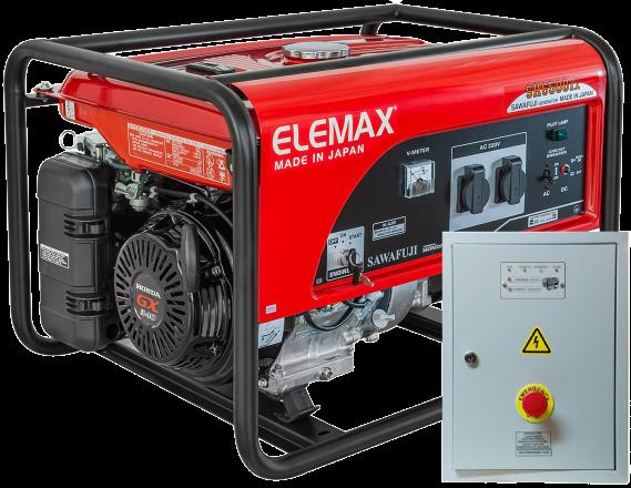 Бензогенератор Elemax SH 6500 EX-RS с автозапуском