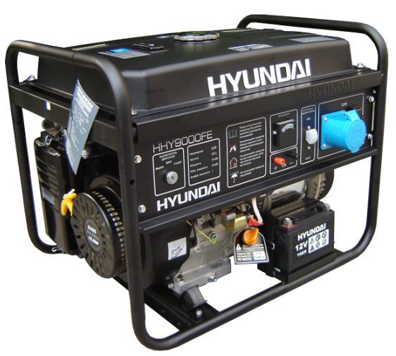 Бензогенератор Hyundai HHY 9010 FE ATS