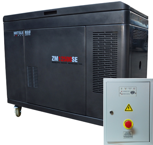 Внешний вид MITSUI ECO ZM 12500 SE в кожухе с автозапуском
