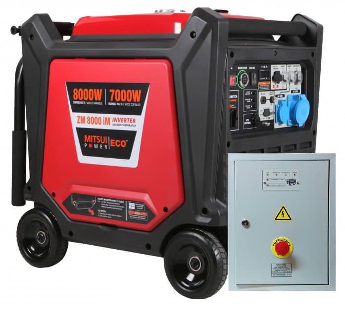 Внешний вид генератора MITSUI ECO ZM 8000 IM с автозапуском АВР