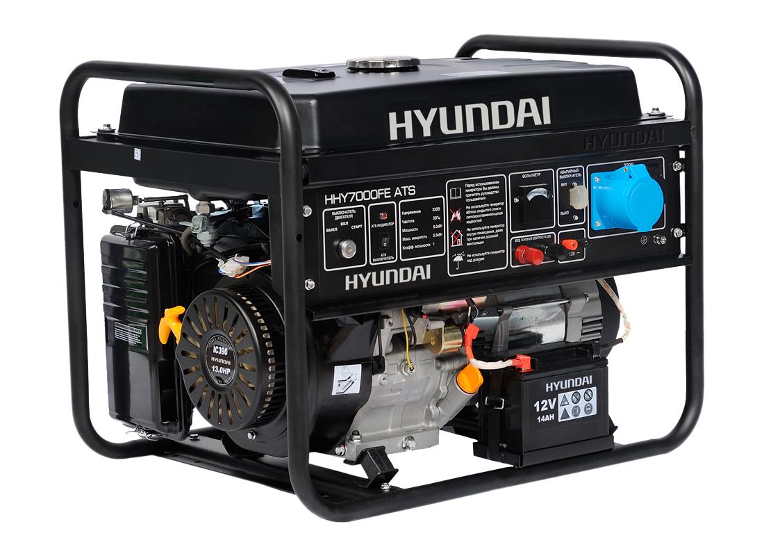 Бензогенератор Hyundai HHY 7010 FE ATS