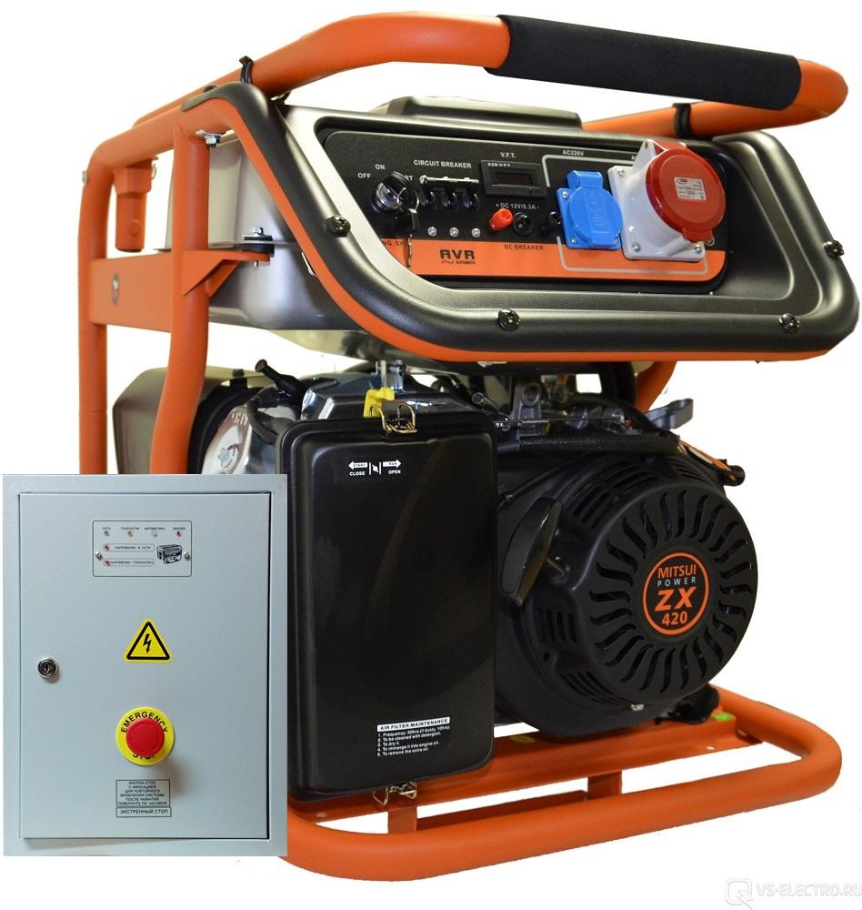 Внешний вид MITSUI Power ECO ZM 7500 E-3 с АВР