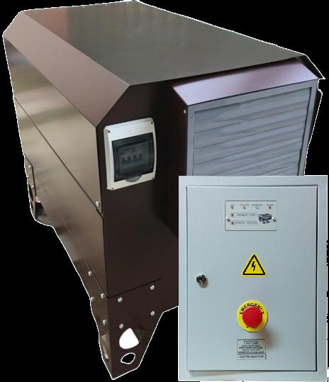 Внешний вид MITSUI ECO ZM 9500 EA в контейнере с АВР