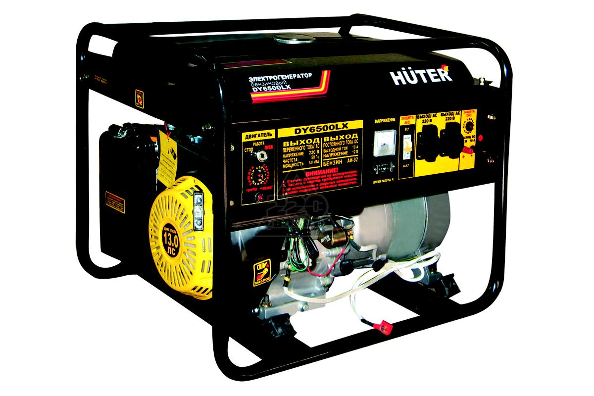 Бензогенератор Huter DY 6500 LX