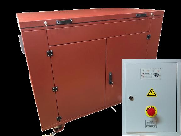 Внешний вид MITSUI ECO ZM 11000 E-3 в контейнере с АВР