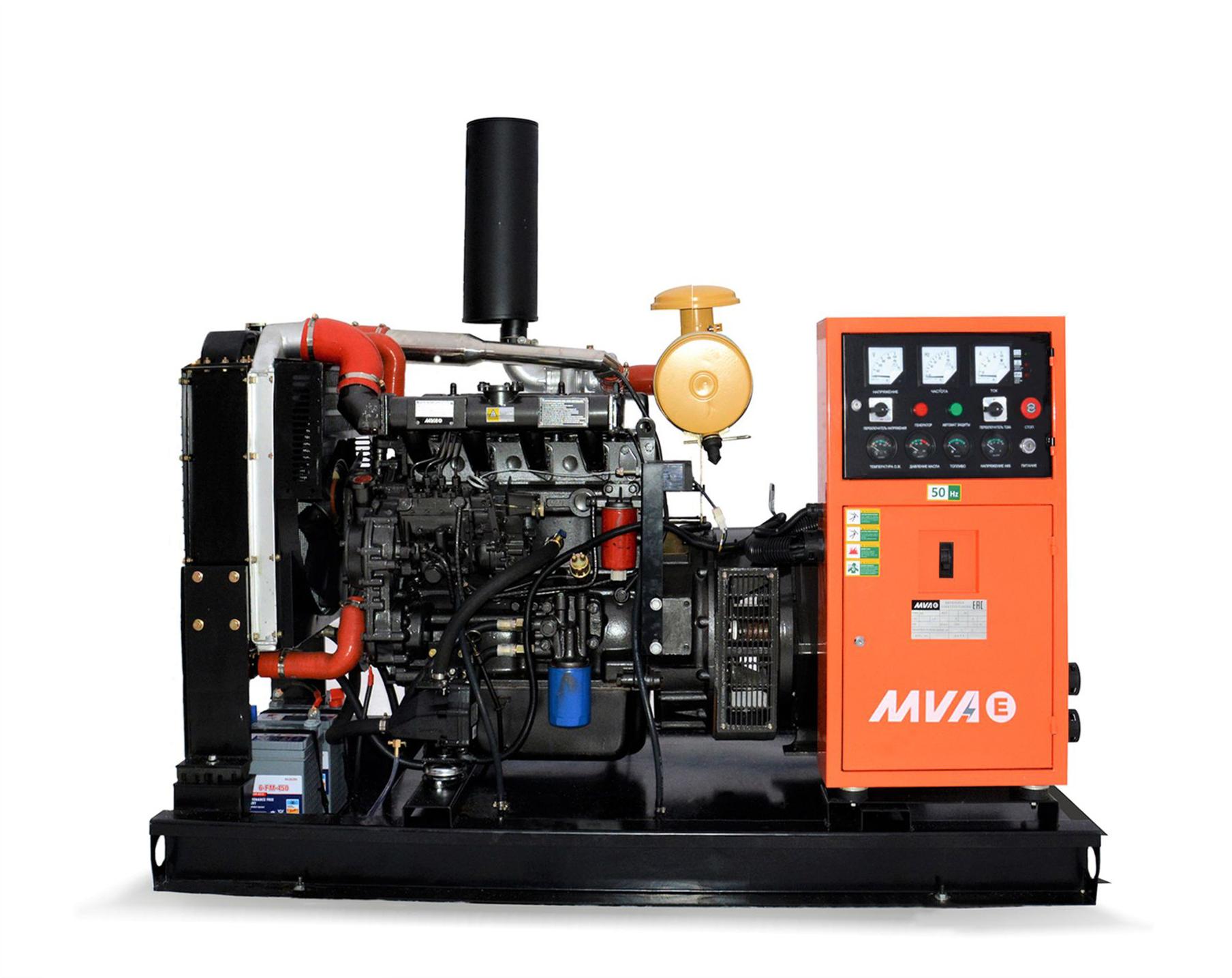Внешний вид MVAE АД-70-400-Р на раме