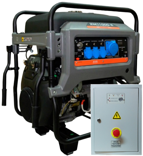 Внешний вид MITSUI ECO ZM 11000 E с автозапуском АВР